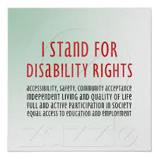 I Stand For Disability Rights Poster Zazzlecom Disability