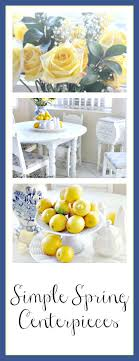 Simple Centerpieces Adding Spring To The Kitchen With Using Lemons And Roses
