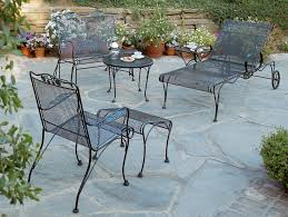 Summer Winds Patio Chairs by Patio Ideas Rod Iron Patio Furniture Over Stone Flooring Option