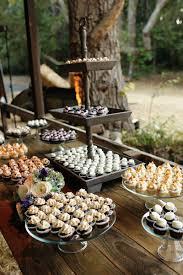 Miniature Cupcakes At Rustic Wedding Dessert Table