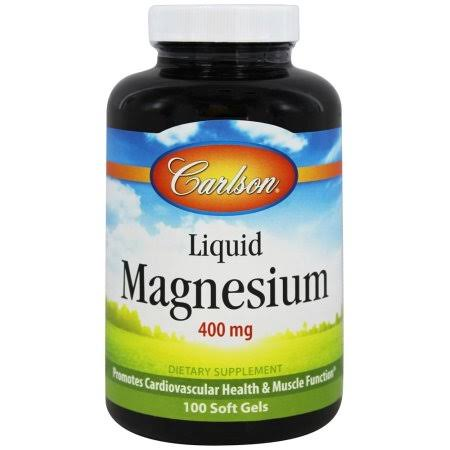 Carlson Liquid Magnesium Supplement - 100 Softgels