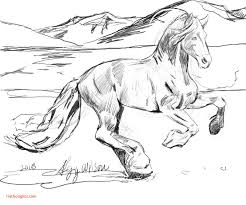 Top Wild Horse Coloring Pages To Print Realistic 8625 Incredible Page