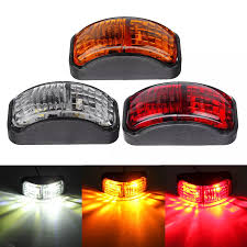 100 Truck Marker Lights 2SMD LED Side Clearance Lamp 1230V 54x24mm E4 RedYellowWhite For Trailer Van