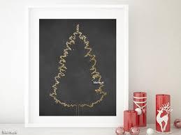 Gold Foil Printable Christmas Tree Alternative Small