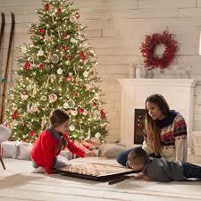 75 Douglas Fir Artificial Christmas Tree by National Tree Pre Lit 7 1 2 U0027 Feel Real Frasier Grande Hinged