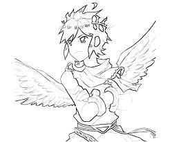 Kid Icarus Dark Pit Angel Coloring Pages