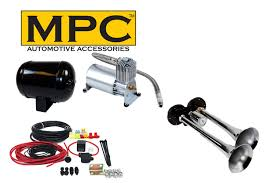 100 Truck Air Horn Kit For S TwoTrumpet 150 PSI 12Volt Compressor 1