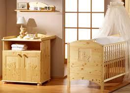 chambre bébé lit commode pin massif naturel oursons schardt