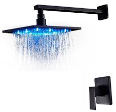 Oil Rubbed Bronze Faucets by Fontana Oil Rubbed Bronze 16 Inch Bathroom Rain Shower Faucet Set