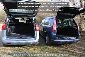 dimension coffre c4 picasso essai peugeot 5008 au citroën grand c4 picasso actu automobile