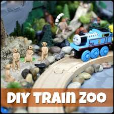 diy zoo train set for wooden trains play trains