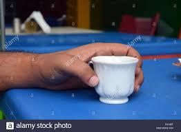Arabic Man Drinking Lebanese Coffee