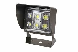 60 watt led low profile wall pack light with glare shield and 10