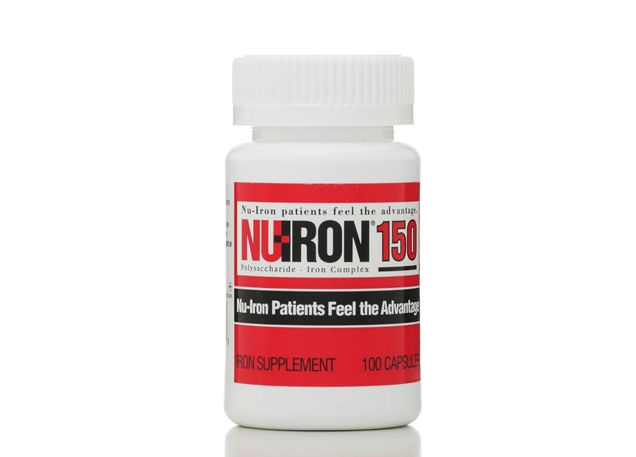 Nu-Iron 150 Capsule Supplements - 100 Count