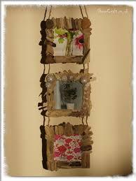 Triple Driftwood Wall Hanging Photo Frame