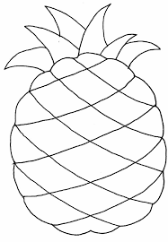 Fruit Pineapple Coloring Pages For Kids Printable Fruits