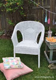Spray Paint Wicker Chair Makeover Life is a Party