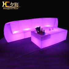 led living room furniture luminous bar color changing