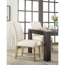 Upholstered Dining Chairs With Nailheads by Ave Six Kingman Dining Chair Multiple Colors Walmart Com