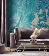 blaue marmor tapete