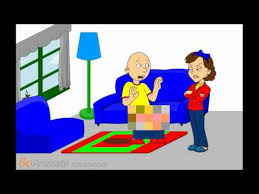 caillou wets the floor and gets grounded youtube