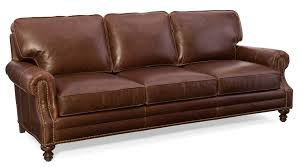Bradington Young Leather Sectional Sofa by Aaron Leather Sofa By Bradington Young