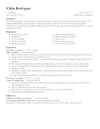 Executive Assistant Resume Example Administrative Samples 2016