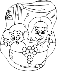 Snack Coloring Pages Fruit