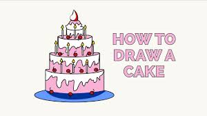 How to Draw a Cake in a Few Easy Steps Drawing Tutorial for Kids and Beginners