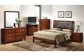 Black Leather Headboard Double by Black Stained Oak Wood Double Size Bed Frame With Curved Headboard