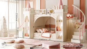 moderne mädchen schlafzimmer möbel prinzessin schloss mit rutsche lichter