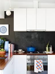 Textured Black Kitchen Splashback
