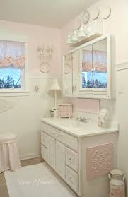 Shabby Chic White Bathroom Vanity by Ideas For Shabby Chic Bathroom Vanities And Storage Clickhappiness