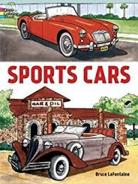 Sports Cars Dover Coloring Books