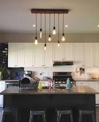chandelier in kitchen