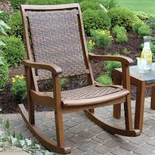 Outdoor Wicker Wood Rocking Chair Patio Porch Seat Rocker ... Wooden Folding Rocking Chair Sling Honeydo List Folding Durogreen Classic Rocker White And Antique Mahogany Plastic Outdoor Rocking Chair Giantex Wood Garden Single Porch Indoor Sunnydaze Allweather With Faux Design Hemingway 41 Acacia Patio Jefferson Chairs Barricada Claytor Eucalyptus Wood Administramosabcco