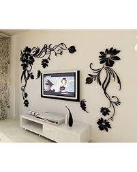 Mpoufe INC 3d Flower And Vine Wall Murals For Living Room Bedroom Sofa Backdrop Tv Background Originality Stickers Gift DIY Decal Decor