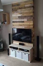Entertainment Center Wall From Pallets