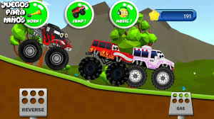 100 Juegos De Monster Truck JUEGOS De COCHES Monstruo Para NIOS S JUEGOS