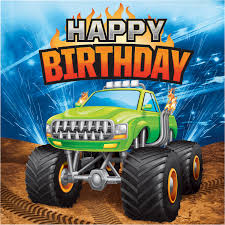 100 Monster Truck Decorations The Party Aisle Happy Birthday 65 Paper