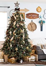 10 Noble Fir Artificial Christmas Tree by Rustic Luxe Christmas Tree 12 Bloggers Of Christmas With Balsam