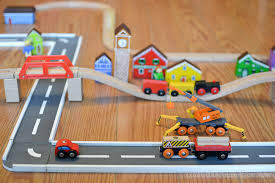 wooden road tracks and ramps diy project toy kid activities