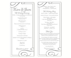 Wedding Program Template DIY Editable Word File Instant Download Black Printable 4 X 925