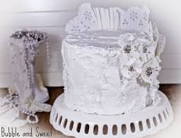 Rustic Wedding Cake Royal Icing Bubble And Sweet Memories Lace