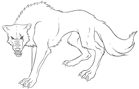 Anime Wolf Coloring Pages Print