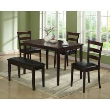 Monarch Griffith 5 Piece Dining Table Set With Bench