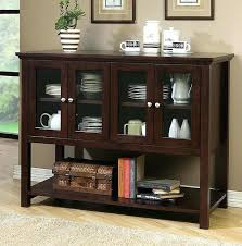 Fresh Idea Glass Sideboards For Dining Room Buffet With Doors Small Images Of Dark Walnut Wood China Cabinet