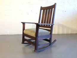 Original L&JG Stickley Mission Rocking Chair Oak At 1stdibs