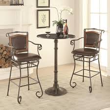 Oswego Pub Table Set With Bar Stools By Coaster At Dunk & Bright Furniture