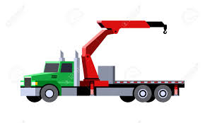 Minimalistic Icon Knuckle Boom Crane Truck Front Side View. Mobile ...